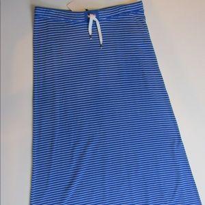 Ralph Lauren blue and white striped maxi skirt